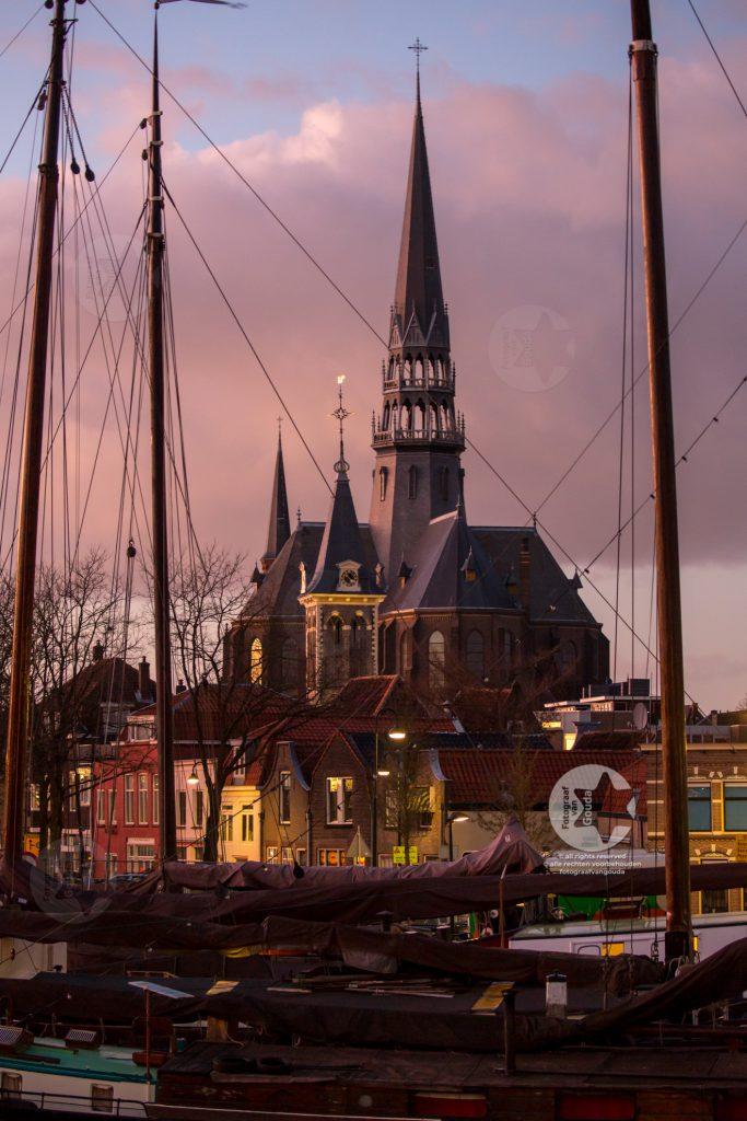 Gouwekerk en museumhaven